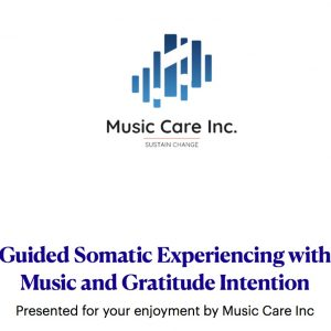 self-guided somatic listening with gratitude